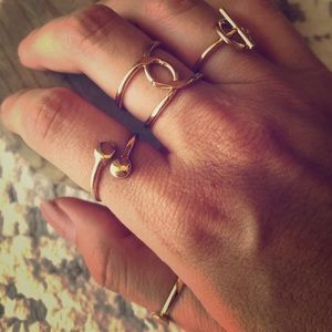 Faux gold rings